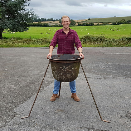 Cast Iron Cauldron On Stand