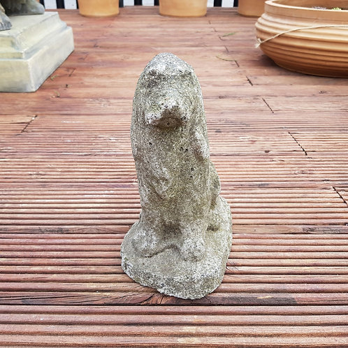 Small Weathered Dog Statue