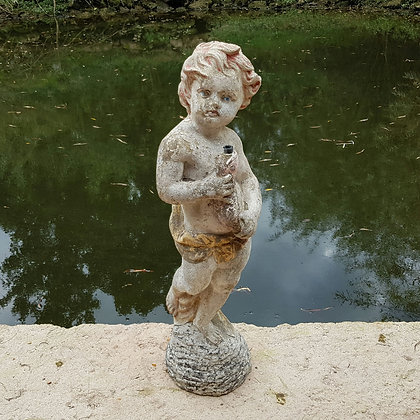 Vintage Waterboy Fountain Statue