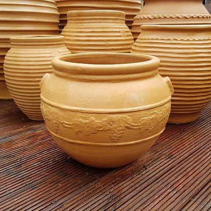 Krasi Cretan Terracotta Decorated Pot