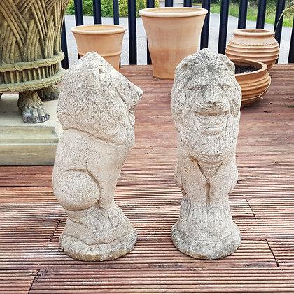 Pair of Lion Statue Finials