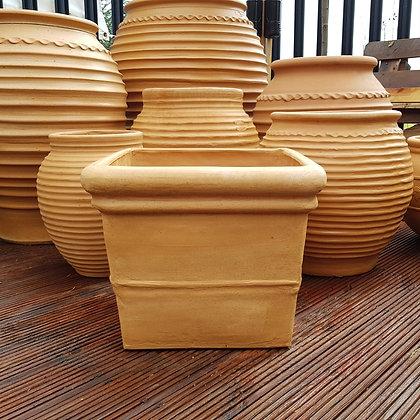 Traditional Cretan Terracotta Cube Planter