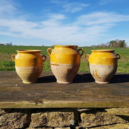 Set of 19th Century Confit Pots