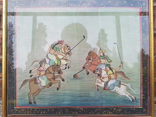 Mughal-Style Linen Painting