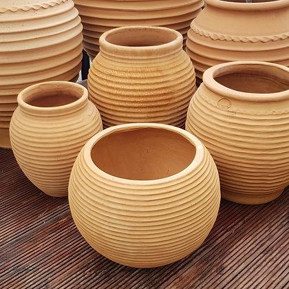 Helios Cretan Terracotta Ribbed Pot