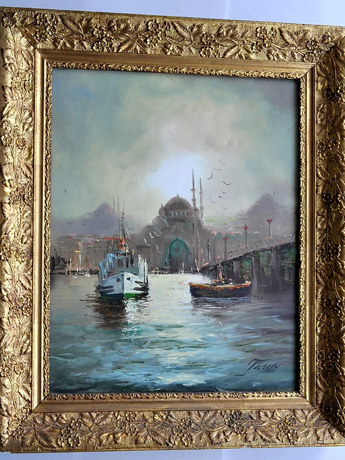 Peinture - Huile Sur Toile - Signée Taren - XXème