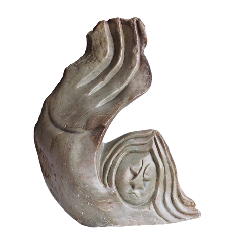 Sculpture - Sirène en Stéatite - XXème
