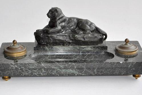 Antoine Louis Barye (1796-1875) - Bronze Sculpture - Encrier