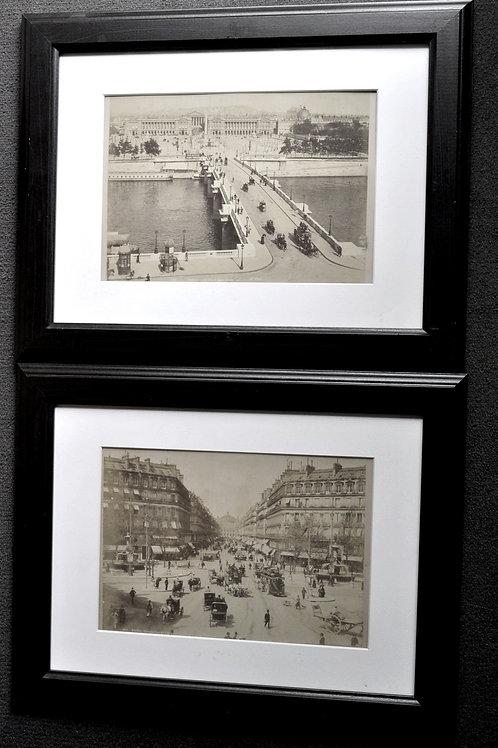 Paire de photographies - Vue de Paris 19ème