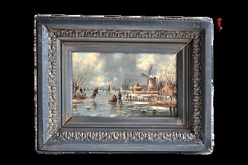 Dutch School - Signed painting - XIXth