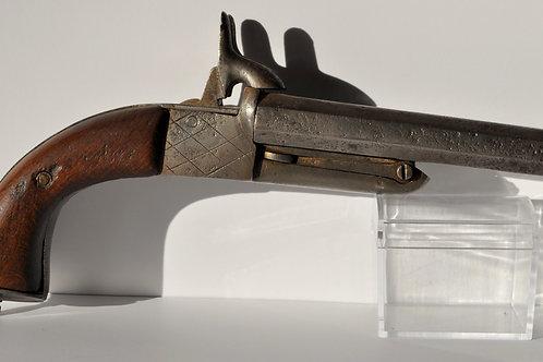 Pistolet Double Canon Type Lefaucheux - France - 19ème