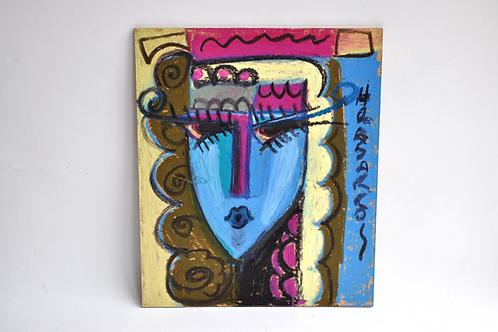 HRAIR HRASARKOS KEUSSEYAN (1975-) - Pastel sur panneau - XXème