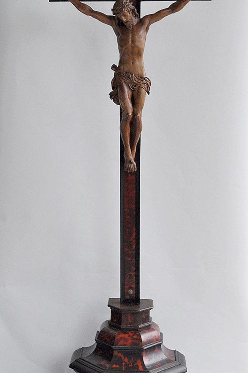 Crucifix - Bois, Écaille De Tortue - XVIIe Siècle