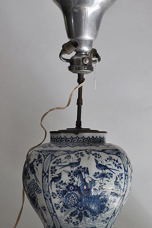 Delft - Vase En Faïence Monté En Lampe - Début XVIIIème