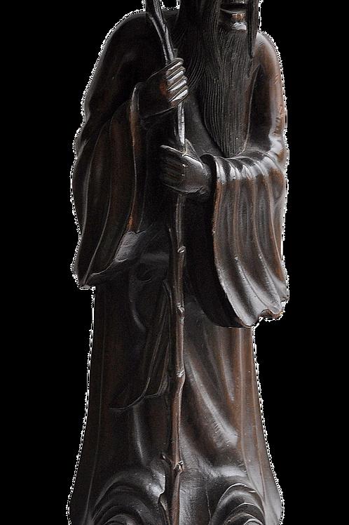 China - Wooden sculpture - Immortal -XIXth