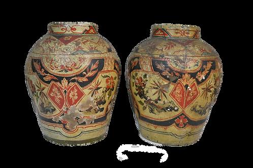 Perse !Iran ? Paire d'urnes funéraires en céramique - Fin XVIIIème