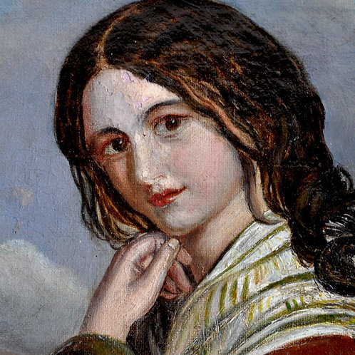 Tableau - Huile Sur Toile - Portrait - France - XIXème
