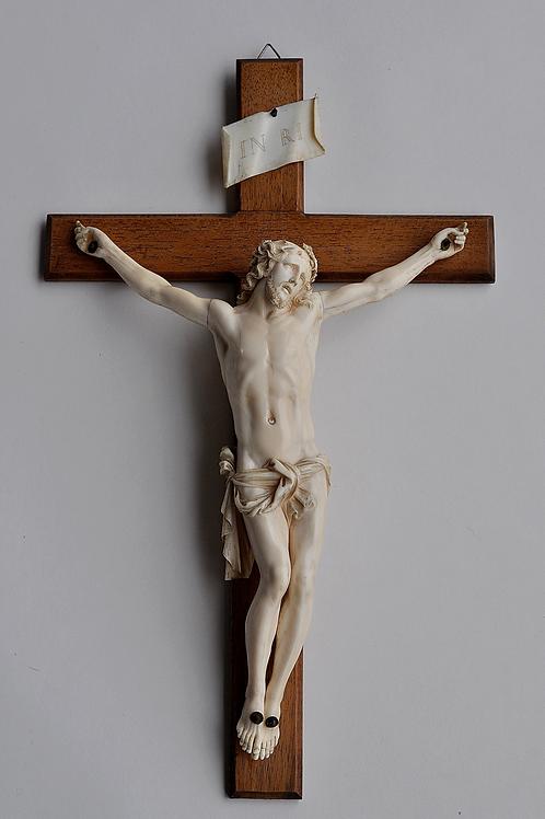 Crucifix - Christ En Ivoire - France Dieppe - XIXème