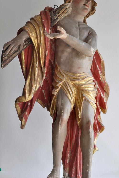 Statue De Saint - Bois Polychrome - Bois - Fin Du XVIIe Siècle