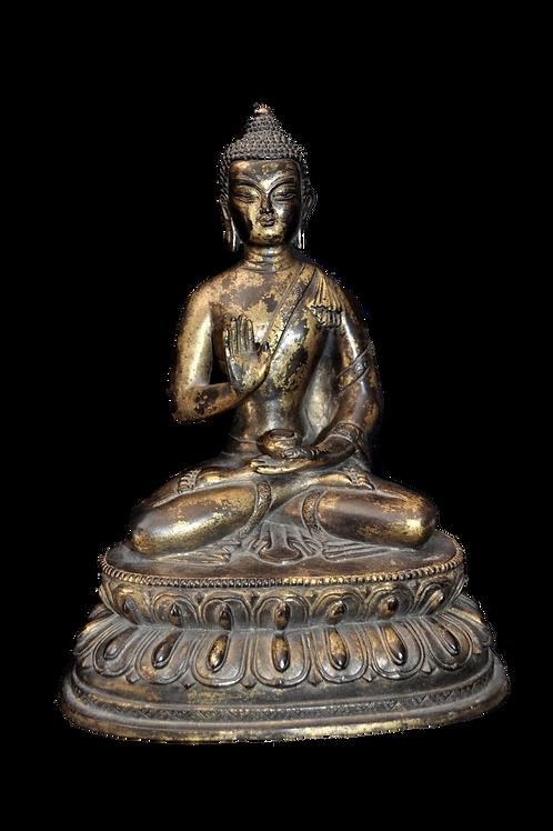 Bouddha - Tibet - Période Meiji  - Abhaya Mudra -