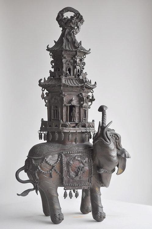 China - Bronze Perfume Burner - Qing Dynasty - XIXth