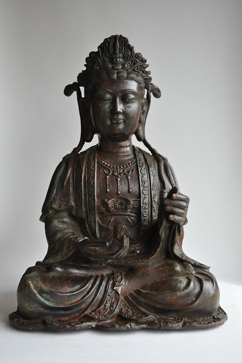 Statue - Sculpture Kwanine En Bronze - Début XXèmeflag