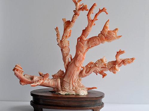 Groupe en corail peau d'ange - Corail - Chine - Dynastie Qing (1644–1911)