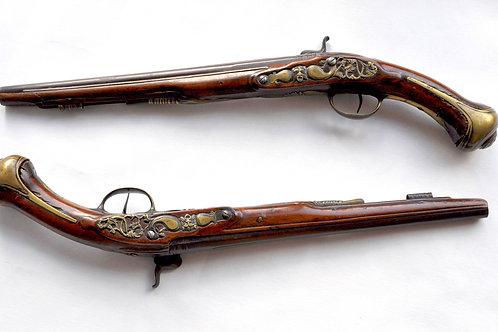 Pair of Pommel Pistols - France - XVIIIth