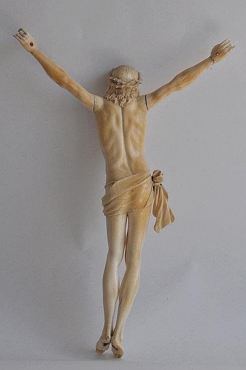 Christ à La Couronne d'épines - Ivoire Sculpté - Circa 1800