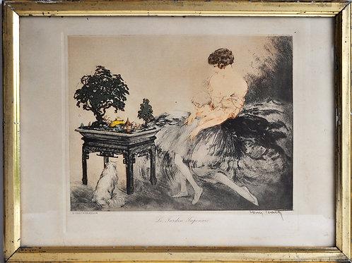 """Louis Icart (1888-1950) - """"Le Jardin Japonais"""" - Estampe - XXème"""