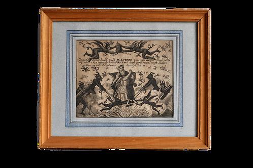 Estampe Allemande - D Luther - XIXème