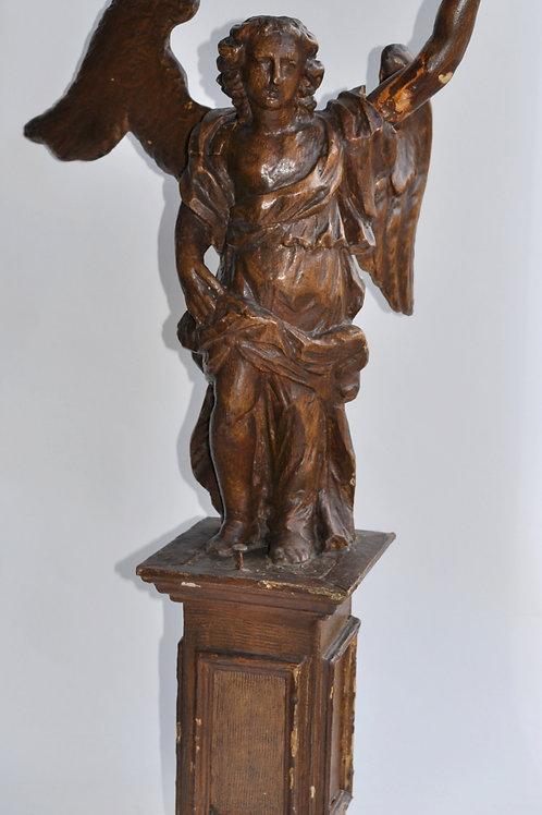 Sculpture En Bois - Ange - XVIIIème