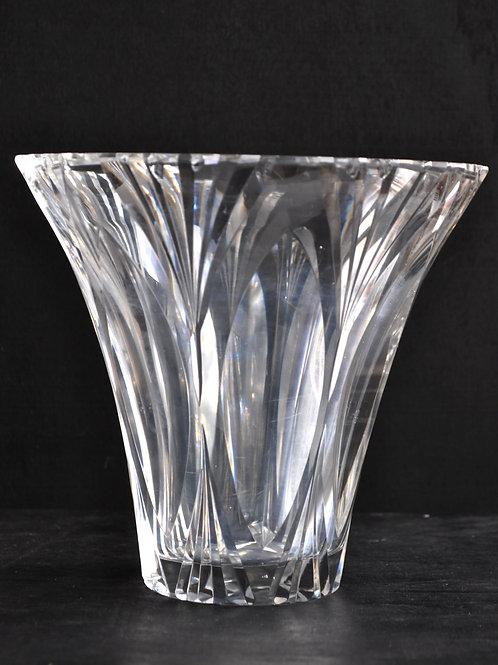 Vase corolle cristal - Signé Daum Nancy - Croix de Lorraine - XXème