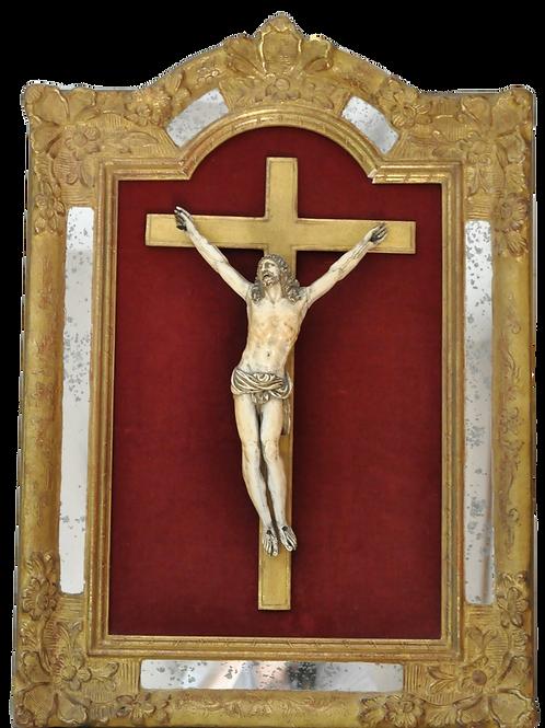 Crucifix - Grand Christ en ivoire - 17ème -