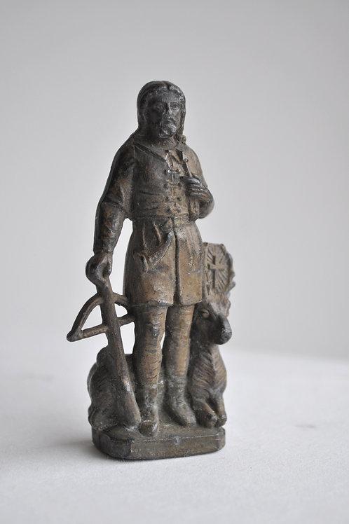 Sculpture - Statuette ancienne en étain - XIXème