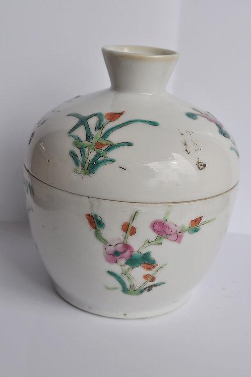 Pot couvert -signé - Chine -XIXème