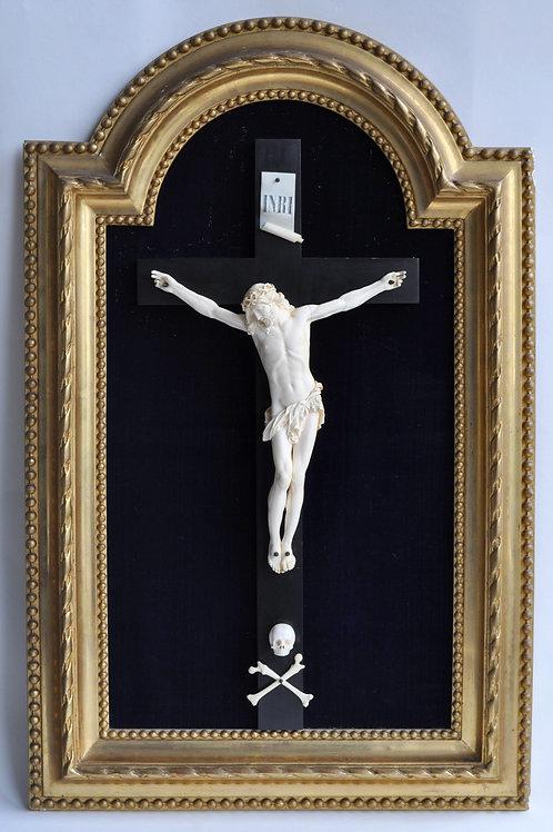 Crucifix Avec Christ Sculpté - Dieppe - Ivoire - Circa 1800