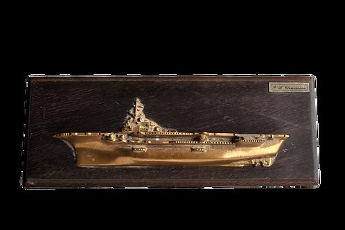 """Bronze de Mohon - Porte avion """"Clémenceau"""" - XXème"""