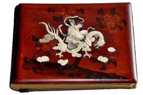 Chine - Album photos - Laque et Ivoire - XIXème siècle