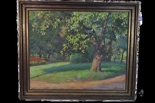 Maurice RUFFIN - Oil on canvas - Jardin de la Rhonelle - 1934