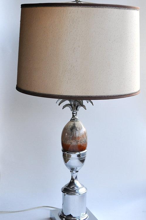 Lampe ananas en métal chromé - XXème