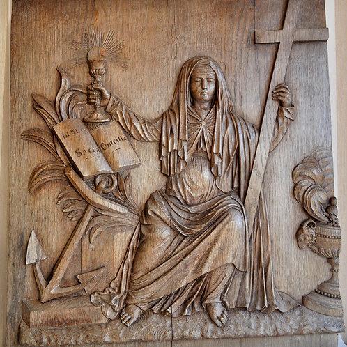 Panel - Christ - Bas Relief In Oak - Circa 1800