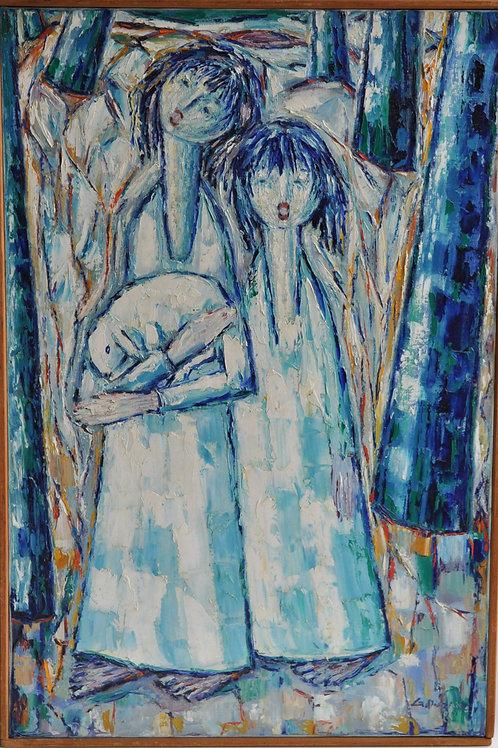 Puzan G - Huile sur toile - Peinture - Signée et datée - XXème