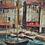 Thumbnail: Virgilio Albiac - Huile sur toile  - Port de St Tropez - XXème