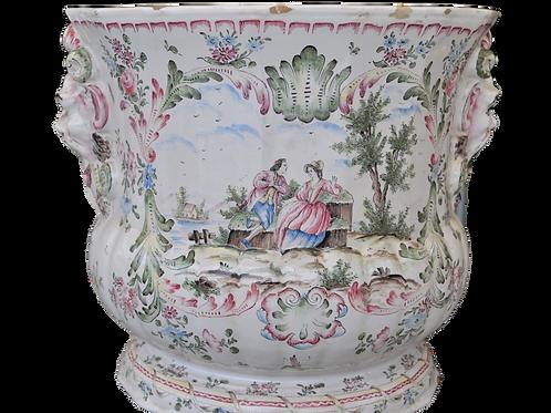 Cache pot - Faience Marseille - Veuve Perrin (Style) XIXème