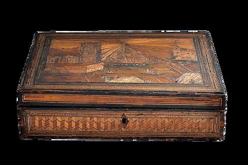 Coffret - Marqueterie de Paille - Fin 18ème siècle