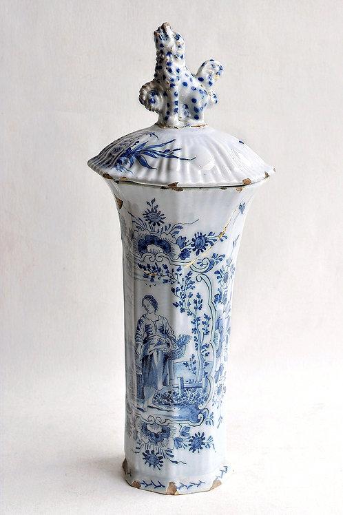 Delft - Vase Cornet - XVIIIème