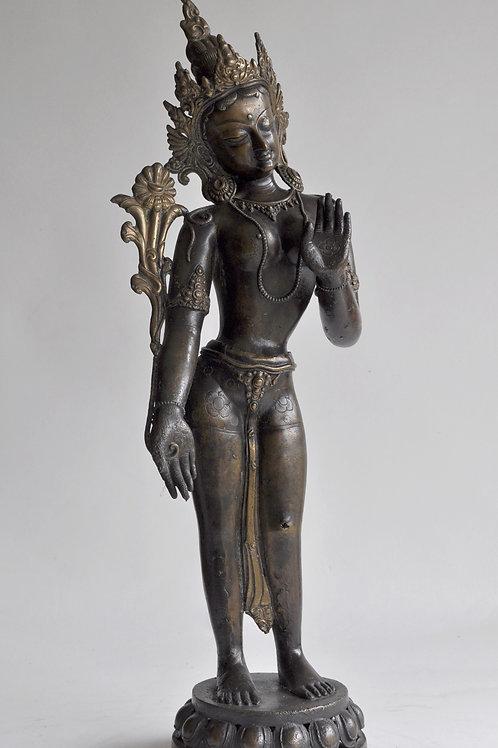 Statue - sculpture asiatique en bronze - XXème