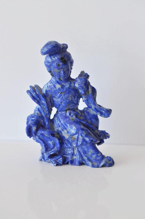 China - Kwanine - Goddess Of Spring - Lapis-lazuli - Circa 1900