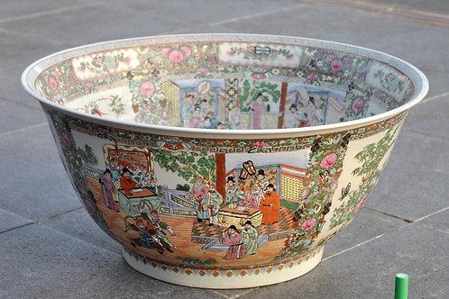 Chine - Canton - Grande vasque - Porcelaine - Circa 1900